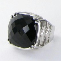 Tacori 18k925 Classic Rock Gem Crescent Ring Sz 7 Black Onyx 925 New $350 - $290.99