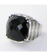 Tacori 18k925 Classic Rock Gem Crescent Ring Sz 7 Black Onyx 925 New $350 - $290.99