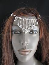 New Women Silver Rain Drops Back Front Head Chain Fashion Hair Pin Rhine... - $15.67