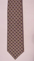 Brooks Brothers Black/Gray/Beige Chain Link Print Tie 100% Silk Usa - $28.71