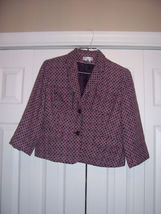 Worthington Blazer Size 12 cuts smaller than a regular 12 see measurements - $12.99