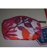 Clinique Floral Print Red Flower Make Up Bag - Fall Purse Bag - Strong Zipper - $4.03