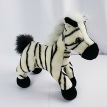 "Aurora World Zebra Plush Stuffed Animal Black White Stripes Handmade 10""... - $9.90"