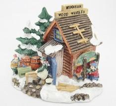Cobblestone Corners Windham Heights Wood Works Christmas Village Building 2004 - $11.87
