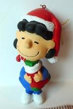 Lucy Peanuts Stocking Hug Christmas Ornament Vintage - $7.87