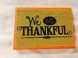 Pre-Owned Mud Pie 2014 We Are Thankful Wooden P... - $14.03