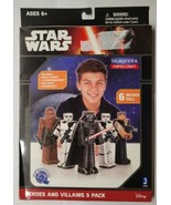 Disney Star Wars Heroes & Villains 5-Pack BluePrints Paper Crafts Kit - £5.72 GBP