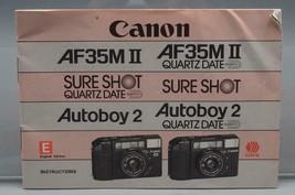 Vintage Canon AF35II Sureshot Autoboy 2 35mm Camera Instructions Manual - $31.93