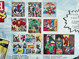 Marvel Comics 8 Puzzle Pack NOB - Iron Man Hulk Nova Ultron Venom Spider... - $40.97