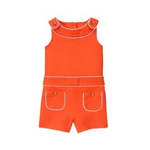 Janie and Jack Sunset Red Piped Romper Girl Youth Kids NEW NWT - $38.25