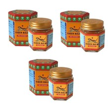Genuine Tiger Balm Multipack Of Three Red 30g Jars - Fast Priority Air Mail - $18.00