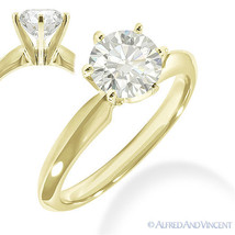 Forever Brilliant Round Cut Moissanite 14k Yellow Gold Solitaire Engagement Ring - €518,58 EUR - €1.819,31 EUR