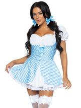 Blue Gingham Dress w/Split Skirt Farmgirl/Milkmaid Costume by Leg Avenue™ - $62.00