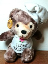 "RUSS Love Pals  ""I Love Your Buns"" Chef Teddy Bear Stuffed Animal 8"" - $15.35"
