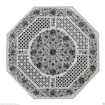 2'x2' Marble Side Coffee Table Top Rare Pauashell Gemstone Mosaic Hallwa... - $1,869.42