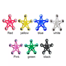 Five Star Fidget Spinner EDC Toy Relieves Stress - 1x w/Random Color and Design image 1