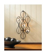 Black Iron and Glass Propel Wall Candle Sconce - $29.95