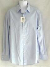 Alfani Men's Long Sleeved Button Front Shirt L Blue NEW - $16.65
