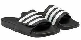 Nuovo Adidas Uomo Bianco Nero Adilette Slide Comfort Leggero Sandali EE5146 - $15.03