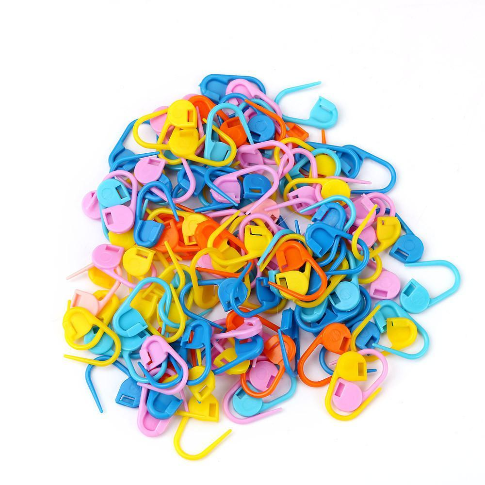100 piece Locking Stitch Marker Set, Assorted Colors