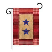 "Two Star Service - 13"" x 18.5"" Impressions Garden Flag - G158069 - $21.57"