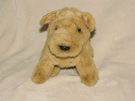 Russ Berrie Plush Pugsley tan light brown puppy dog Pug small - $17.32