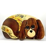 Vintage Hand Painted Puppy Dog Cutout Wall Art - Folk Art Hound Floppy Ears - $9.90