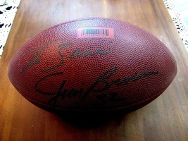 JIM BROWN CLEVELAND BROWNS HOF SIGNED AUTO WILSON NFL FOOTBALL JSA AUTHE... - $168.29