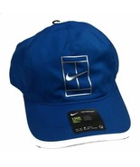 NEW! NIKE Unisex Featherlight Aerobill Court Tennis Hat One Size-Blue/White - $69.18