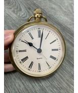 Vintage Desk Clock Quartz Alarm Table Watch Gold BHS - $131.33