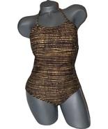 NWT SPEEDO exotic halter 6 $82 swimsuit Aquatic Fitness one-piece multi ... - $29.09