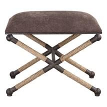 Rope Bench Footstool Taupe Brown Ottoman Coastal Decor Nautical Furnitur... - €287,19 EUR