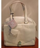 NWT ALLIBELLE Lemon Ice Folio Dome Leather Satchel Bag Handbag $395 - $86.11