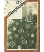 Simplicity Crochet Pattern 5180 Christmas Ornaments Tree Top Angel Used - $9.98