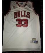 #33 Scottie Pippen retro Hardwood Classic Chicago Bulls White Jersey Sti... - $22.95