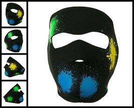 Glow in the Dark Splatter Neoprene Face Mask - $10.99