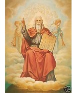 Catholic Print Picture GOD THE FATHER Ten Commandments - ready to frame ... - $14.01