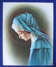 """Catholic Print Picture Sorrowful Blessed Virgin Mary 8x10"""" ready to frame - $14.01"""