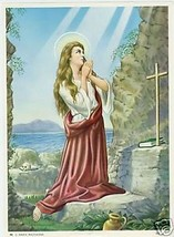 Catholic Print Picture ST. MARY MAGDALEN Penitent - ready to be framed 7... - $14.01