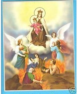 "Catholic Print Picture MARY w/ Souls in PURGATORY 8x0"" ready to frame - $14.01"