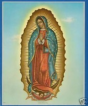 """Catholic Print Picture VIRGIN MARY of GUADALUPE Mary 8x10"""" from Italy - $14.01"""