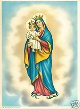 Catholic Print Picture OUR LADY OF THE HOLY ROSARY Mary - $14.01