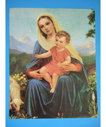"Catholic Print Blessed Vrigin Mary w/ Baby Jesus 11x14"" ready for framing - $16.82"