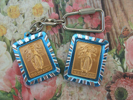 Vintage Catholic Our Lady Of The Cape Medal Gift Set Keychain And Magnet - $14.03