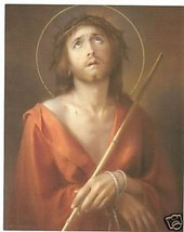 "Catholic Print Picture Sorrowful Jesus Ecce Homo by SIMEONE 8x10"" ready to frame - $14.01"