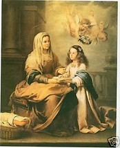 Catholic Print Picture ST. ANNE & VIRGIN MARY Murillo - ready to frame - $14.01