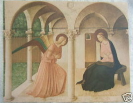 """Catholic Print Picture ANNUNCIATION Fra Angelico Mary 11x14"""" ready for f... - $16.82"""