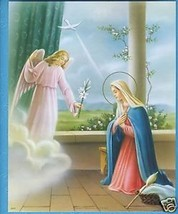 "Catholic Print Picture The ANNUNCIATION Virgin Mary 8x10"" ready to frame - $14.01"