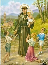 Catholic Print Picture ST. ANTHONY's BREAD Unique! Ready to be framed - $14.01