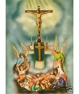 Catholic Print Picture Priest MASS Souls in Purgatory - ready to be framed - $14.01